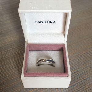 Pandora Rising Star Ring, Diamond Size 7